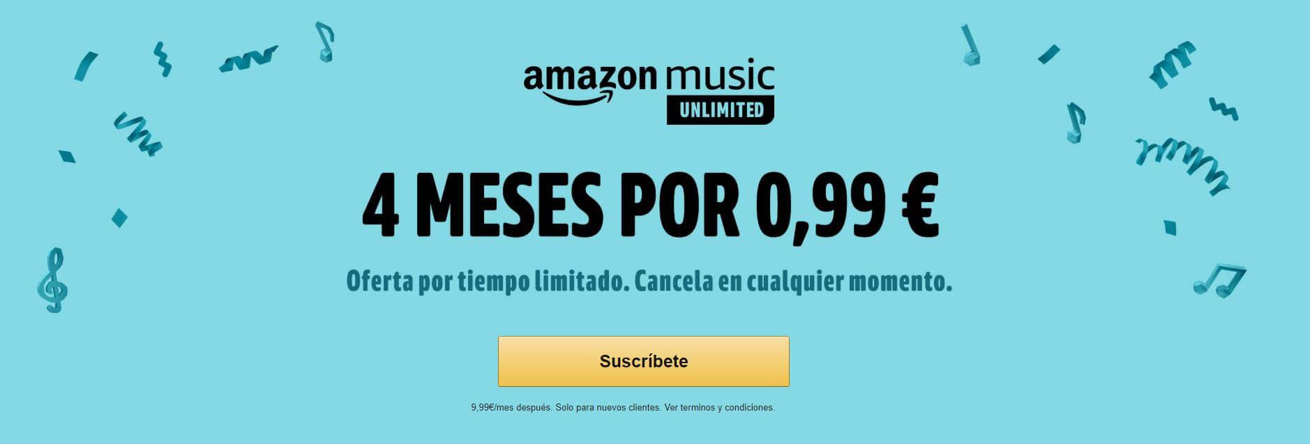 amazon music unlimited 4 meses