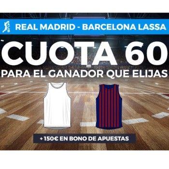 Real Madrid-Barcelona: cuota a 60 para cualquier ganador