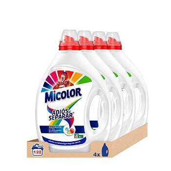 4 detergentes líquidos Micolor para 132 lavados a 20,99€