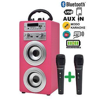 Altavoz Bluetooth Dynasonic + 2 micrófonos por 39€