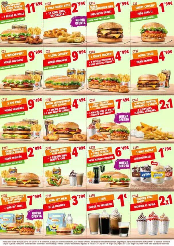 cupones burguer king septiembre 2019 burger