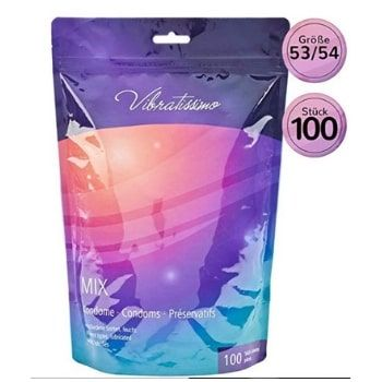 Paquete de 100 preservativos Vibratissimo por 15,13€