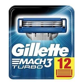 Pack 12 Gillette Mach3 Turbo por 25,21€