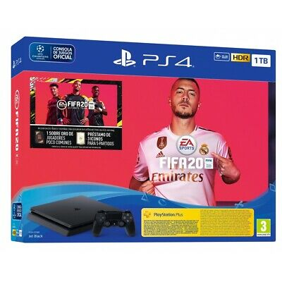 PS4 1TB + JUEGO FIFA 20 PS4 + MANDO DUALSHOCK 4 V2 + VOUCHER + 14 DIAS PSN