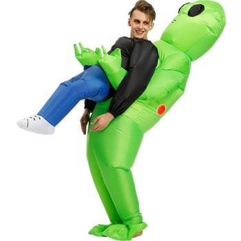 Disfraz inflable alien, ¡el disfraz de moda para Carnaval!