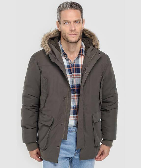 parka unit gris barata descuento oferta abrigo hombre