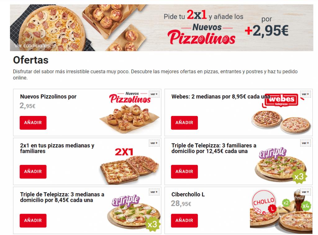 mejores ofertas telepizza