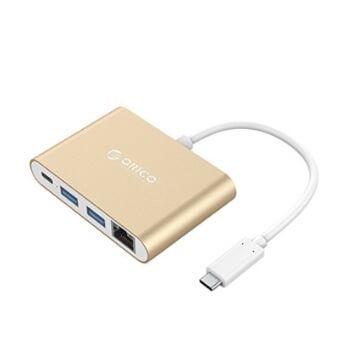 Hub USB C Ethernet 4 puertos Orico por 14,69€ en Amazon
