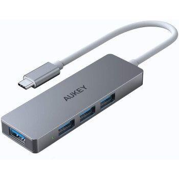 Hub USB C 4 puertos Aukey por 10,99€ en Amazon