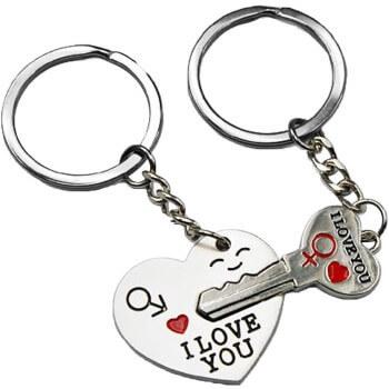 Llavero para parejas por 0,53€ y envío gratis en Amazon
