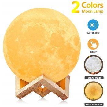 Lámpara LED de luna 2 colores AGM por 10,99€