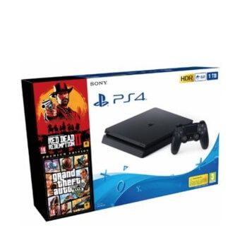 Consola PS4 Slim 1TB Red Dead Redemption 2 + Grand Theft Auto V – Premium Edition por 249,99€ en Fnac