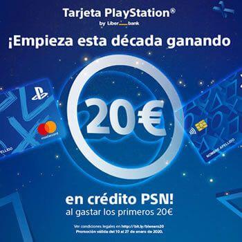 🔰 20€ GRATIS en crédito PSN con tu tarjeta PlayStation de Liberbank