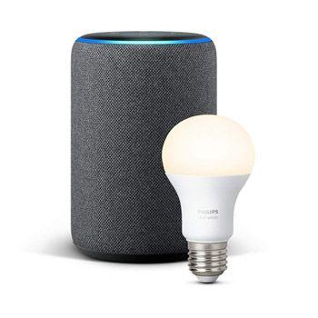 Echo Plus (2ª generación) + Bombilla Philips Hue White baja de precio hasta 99,99€ en Amazon