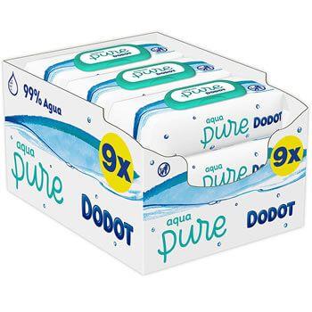 Toallitas Dodot Aqua Pure (9 paquetes) por 13,22€ en Amazon
