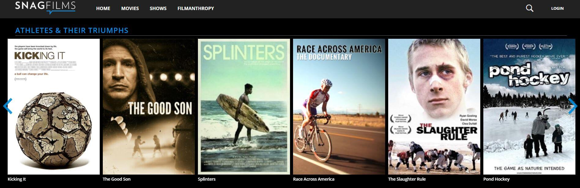snagfilms cine documentales gratis