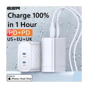 Cargador USB C ESR por 9,40€ en Aliexpress