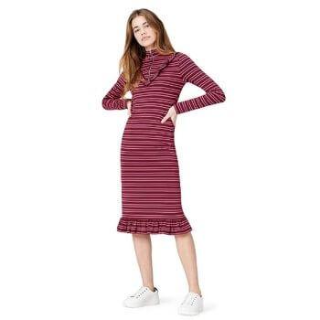 Vestido de rayas mujer Find al precio más bajo, ahora por solo 6,40€ en Amazon