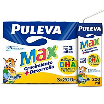 Pack de leche Puleva Max por 1€ en Amazon