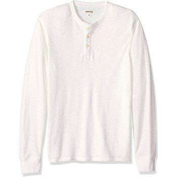 Camiseta estilo Henley de algodón de manga larga en Amazon