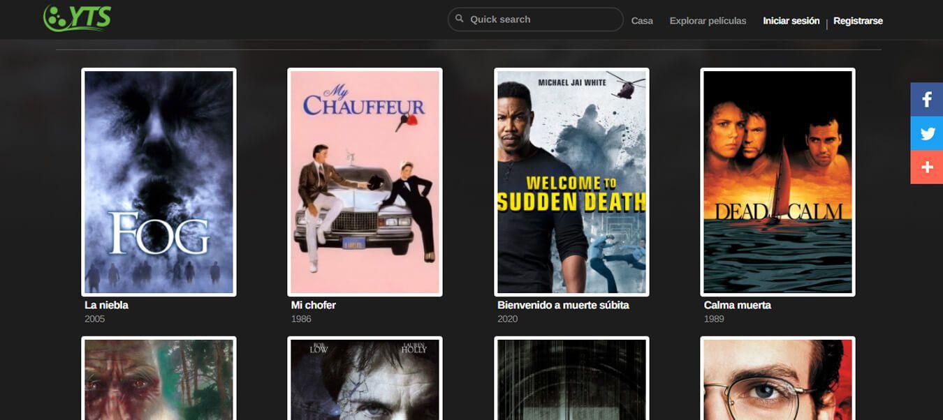películas torrents en YTS