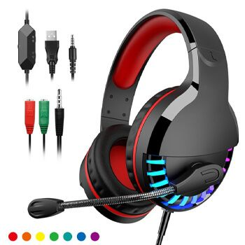 Auriculares gaming con micrófono LED en AliExpress