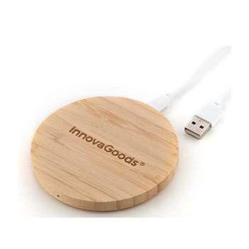 Cargador inalámbrico de bambú Wirboo InnovaGoods