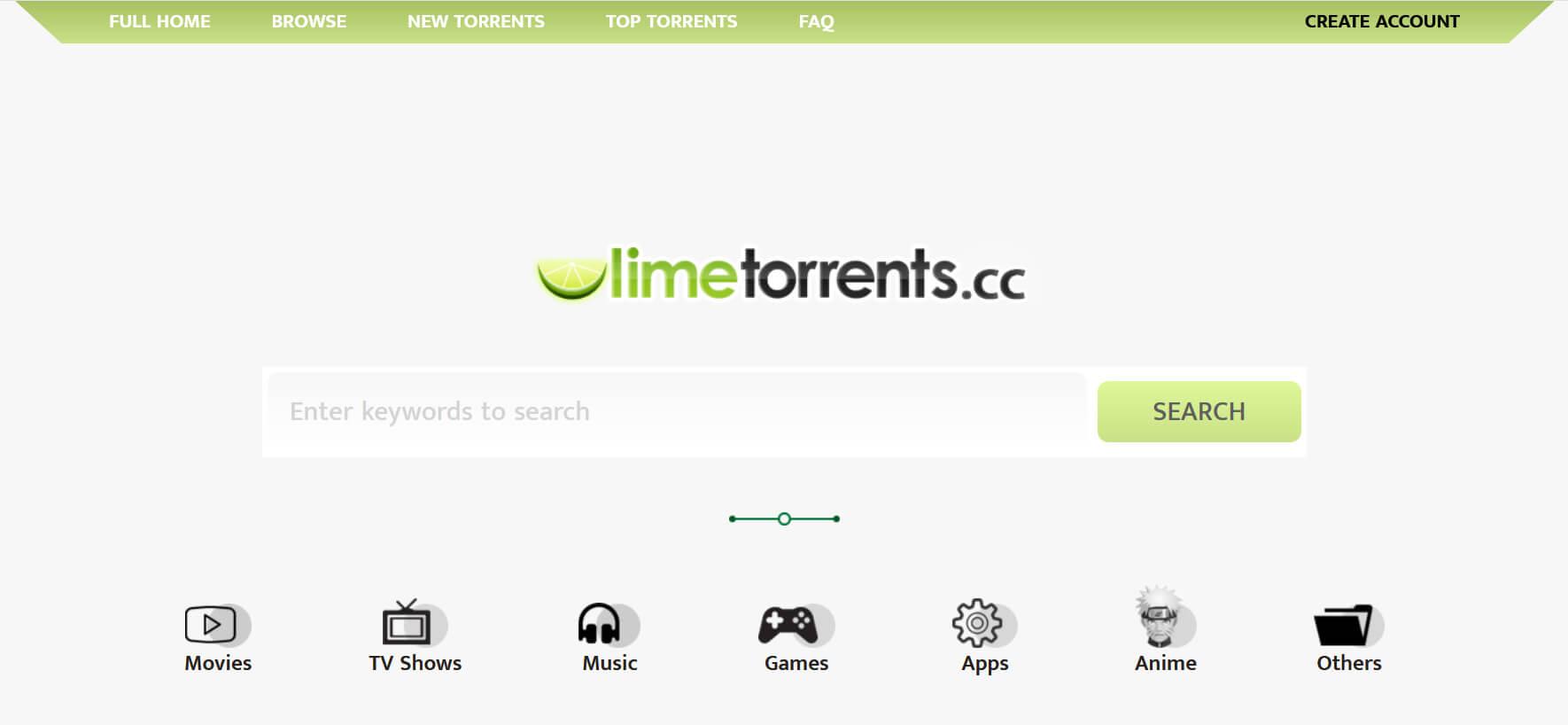 descargase en LimeTorrents