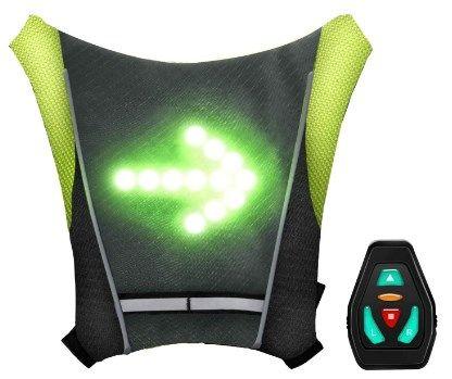 Chaleco de señal con luz LED para patinetes