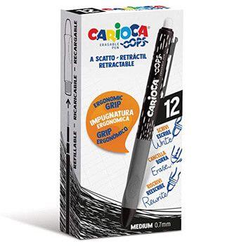 Bolígrafos borrables negros Carioca Amazon