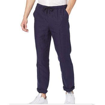 Pantalón de lino hombre Amazon