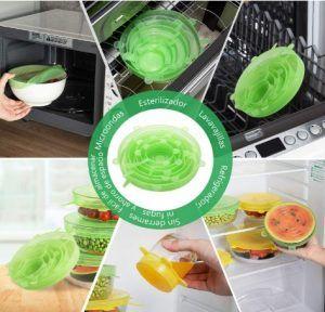 Compra 12 tapas de silicona elásticas reutilizables baratas