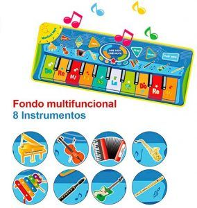 Alfombra musical piano para niños