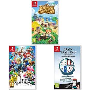 Animal Crossing: New Horizons + Super Smash Bros + Brain Training