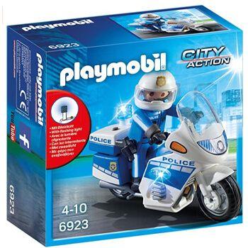 Playmobil - Moto de policía con luces LED en Amazon