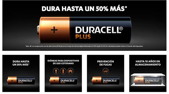 comprar pilas Duracell Plus baratas