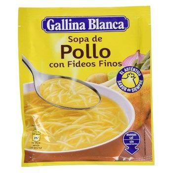 Sopa deshidratada de pollo con fideos finos