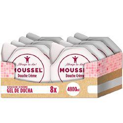 Pack 8 Gel de ducha Moussel Crème por 7,44€ en Amazon