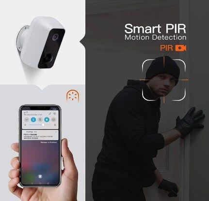 Comprar Cámara de vigilancia WiFi exterior con batería recargable barata