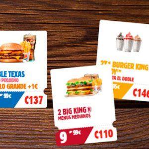Cupones Burger King Marzo