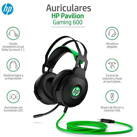 HP Pavilion 600 - Auriculares Gaming