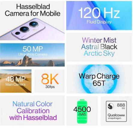 OnePlus 9 Teléfono móvil, ROM global