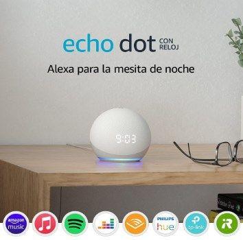 Echo Dot 4.ª generación con reloj