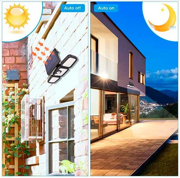 Luz Solar Exterior con Sensor de Movimiento