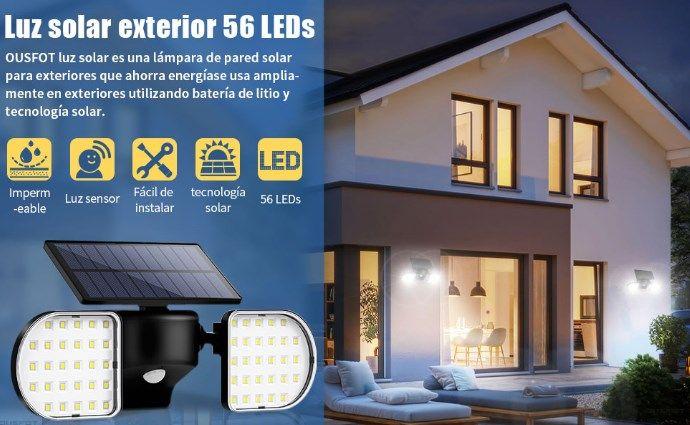 comprar Foco solar exterior LED barato