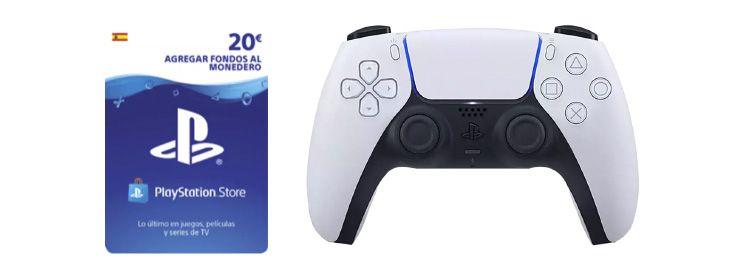 Mando DualSense PS5 consola + tarjeta PSN 20€