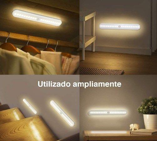 comprar Pack 4 luces LED armario con sensor de movimiento barato