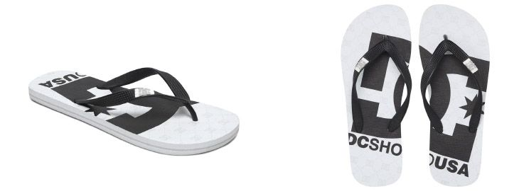 Grandes descuentos en chanclas en DC Shoes y Quiksilver desde 6,95€ en El Corte Inglés tres