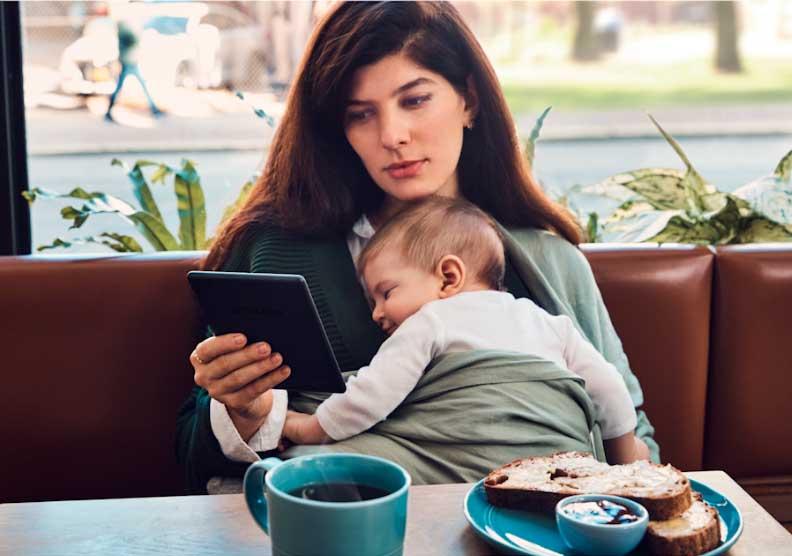 Kindle Amazon con luz frontal integrada