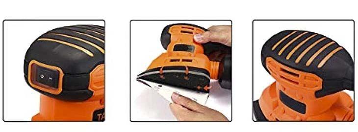 Lijadora eléctrica con recogida de polvo a 23,99€ en Amazon imagen 2